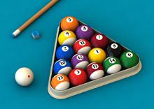 jeux de billes de billard avec triangle plastique