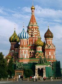 La cathédrale Saint Basile à Moscou en Russie