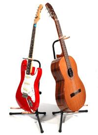 Guitare électrique et guitare classique