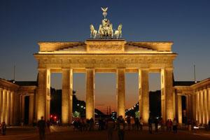 Allemagne : Porte de Brandenburg à Berlin