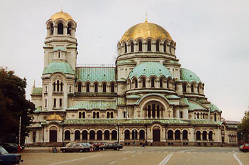 La cathédrale de Sofia en Bulgarie