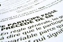 Du texte écrit en français